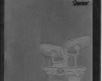 Darice Embossing Folder  --  New  -- Santa Chimney Top  --  (#1726)