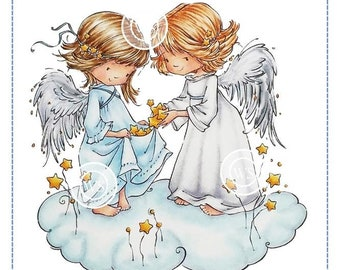 Whimsy Stamps --  Angel Wishes  -- NEW  -- (#2895)