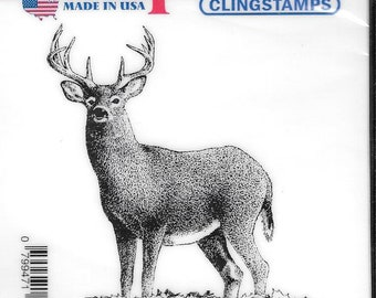 Deep Red Cling Stamps --  Buck Deer -- NEW -- (#2827)