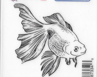 Deep Red Cling Stamps --  Goldfish  -- NEW -- (#3226)