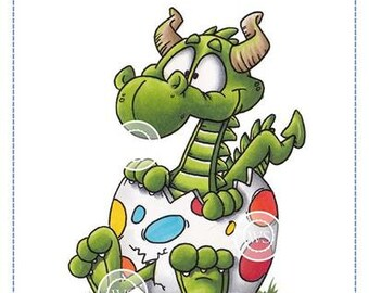 Whimsy Stamps -- Dragon Egg -- NEW -- (#3483)