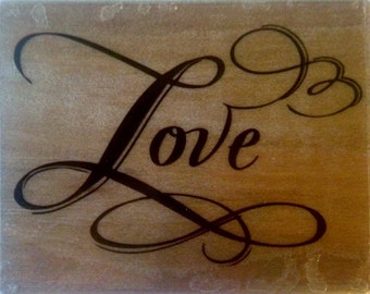 Love Stamp --   NEW  -- Wood Mounted Rubber Stamp --  Rubber Stampede Brand --   (#915)
