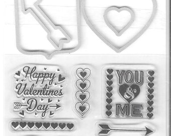 Recollections  -   Valentine's  Stamp and Die set    -  NEW  (#3459)