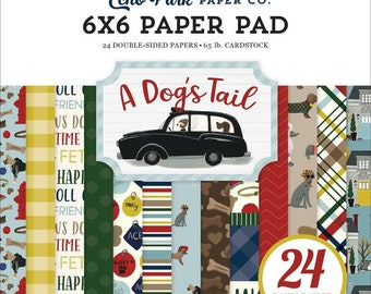 6 x 6 Paper Pad ~ A Dog's Tail ~ Double sided NEW (#4127)