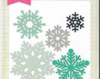 Echo Park - Winter Snow Flakes Die set   -  NEW  (#3378)