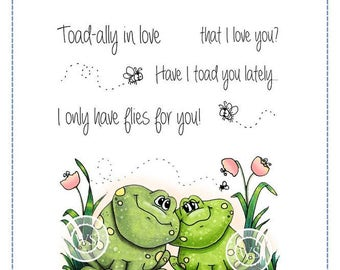 Whimsy Stamps -- Froggie Friends  -- NEW -- (#2167) Crissy Armstrong Collection