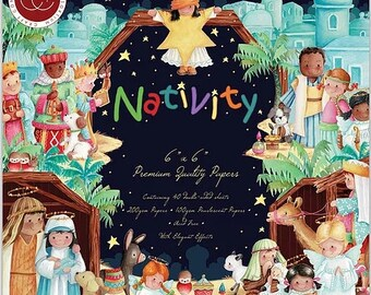 6 x 6 Paper Pad ~   Nativity   ~ Double sided  - NEW (#4049)