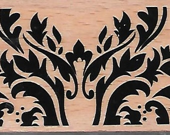 Background Pattern Stamp --   NEW  -- Wood Mounted Rubber Stamp --  Studio G Brand --   (#1527)