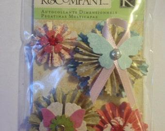 K & Company Grand Adhesion's -- Beyond Postmarks Medallion  --  NEW -- self adhesive dimensional sticker  (#894)