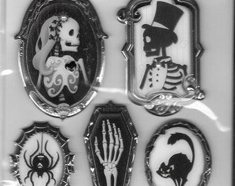 Jolee's -- Black and White Cameos -- Halloween -- NEW (#2802)