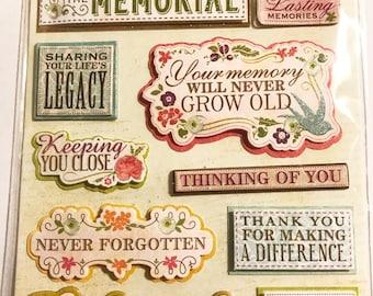 K & Company LLO - Memorial Site - NEW - dimensional stickers (#2999)
