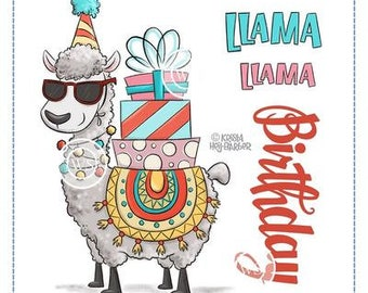 Whimsy Stamps --  Llama Birthday   -- NEW -- (#3645)