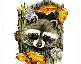 Whimsy Stamps -- Raccoon -- NEW -- (#2874)