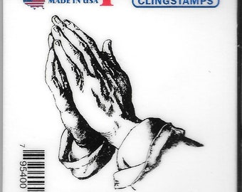 Deep Red Cling Stamps -- Praying Hands  -- NEW -- (#2712)