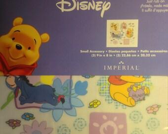 Imperial Brand  --  Disney  --  Winnie The Pooh Rub On's  -- NEW -- Self Adhesive Rub Ons  --    (#1061)