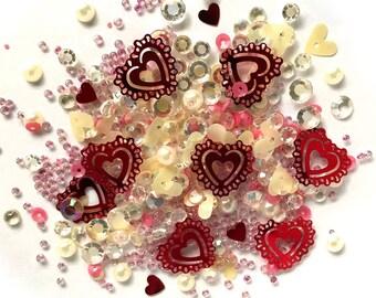 Buttons Galore -- Sparkletz  --  VALENTINE'S DAY  -- NEW  (#3701)