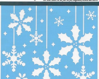 Clear Scraps Designer Stencil -- New -- Holly Christmas Bulbs -- (#3554)