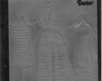 Darice Embossing Folder  --  New  --  Dress Forms  --  (#1727)