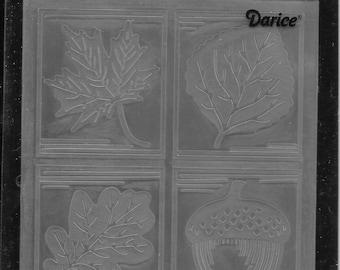 Darice Embossing Folder -- New -- Fall Square -- (#3051)