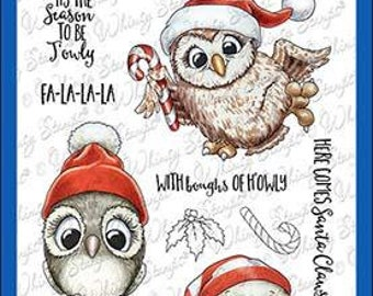 Whimsy Stamps --   Happy Owlidays Too    -- NEW -- (#4016)