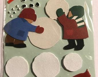 K & Company LLO - Build A Snowman- NEW - dimensional stickers (#2998)