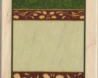 Christmas Gift Tag Stamp -- NEW -- Wood Mounted Rubber Stamp --  Inkadinkado --  (#1521)
