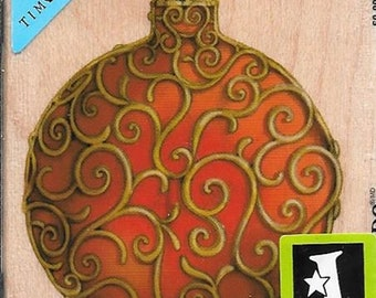 Tim Coffey Ornament Stamp -- NEW -- Wood Mounted Rubber Stamp --   (#2964)