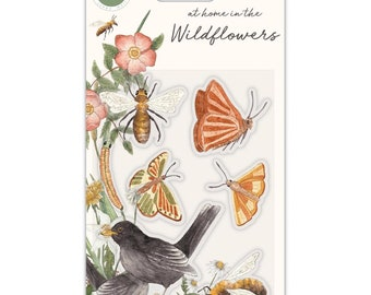 Craft Consortium -- At Home in the Wildflowers  -  Bees and Butterflies  - NEW - (#3980)