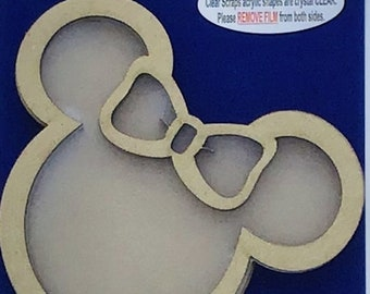 Clear Scraps -- Mini Shaker GIRL MOUSE  -- NEW  (#3526)