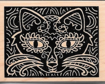 Cat Stamp -- NEW -- Wood Mounted Rubber Stamp --   (#2968)