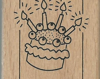 Birthday Stamp  --   NEW  --  Wood Mounted Rubber Stamp --  Anita's Brand  --   (#1050)