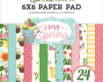 6 x 6 Paper Pad ~ I Love Spring ~ Double sided NEW (#3585)