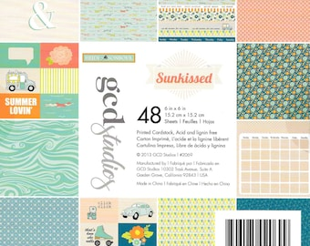 6 x 6  Paper Pad  ~~ Sun Kissed ~~  Printed Cardstock  ~~ Double sided paper  ~~  NEW  (#515)