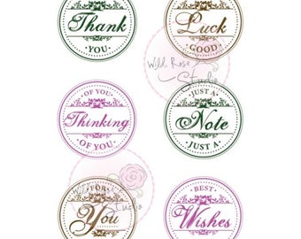 Wild Rose Studio Clear Stamp -- NEW -- Circle Greetings Stamp Set -- (#2161)