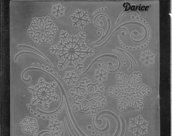 Darice Embossing Folder  --  New  -- Snowflake Swirl --  (#3091)