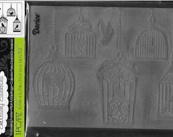 Darice Embossing Folder  --  New  --  Bird Cages  --  (#1647)