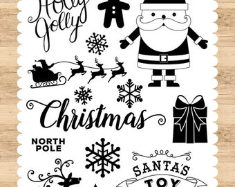 Echo Park Cling Stamps -- Holly Jolly -- NEW -- (#3332)