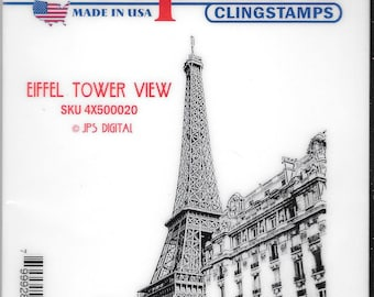 Deep Red Cling Stamps -- Eiffel Tower View -- NEW -- (#2424)