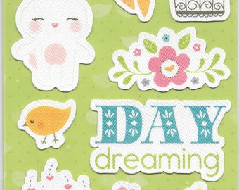 Imaginisce Brand --  Spring Collection Canvas Stickers  -- NEW --  Spring Stickers  --    (#2239)