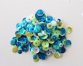 Clear Scraps -- Sequins  -- OCEAN -- NEW  (#3544)