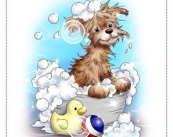Whimsy Stamps -- Bath Dog  -- NEW -- (#2541)