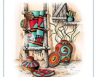 Whimsy Stamps --  Southwestern Home  -- NEW -- (#3630)
