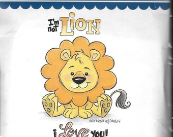 Whimsy Stamps --   Lion Love  -- NEW  -- (#3036)