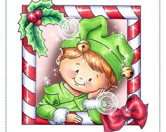 Whimsy Stamps --  Elf Frame  -- NEW -- (#3218)