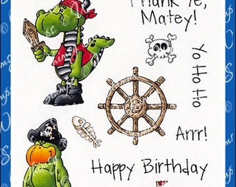 Whimsy Stamps --  Arrgg! Pirates -- NEW  -- (#3135)