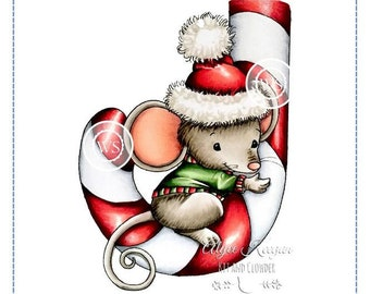Whimsy Stamps --   Mousey Candy Cane  -- NEW -- (#2943)