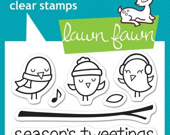 Lawn Fawn --  Winter Sparrows   -- NEW -- (#4169)