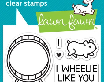 Lawn Fawn -- Wheelie Like You   -- NEW -- (#4180)