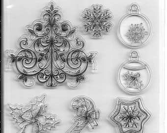 Holiday Trendz Clear Stamp Set --  NEW  --   Holiday Icons --  (#3276)