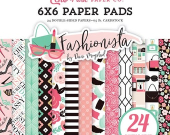 6 x 6 Paper Pad ~ Fashionista ~ Double sided NEW (#2757)